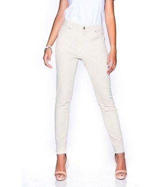 Bianco jeans 120890  Cornelian broek beige stripe
