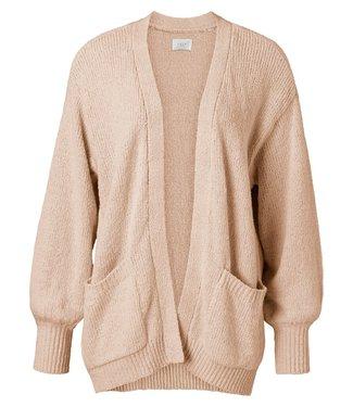 YAYA 1010121-113 Slub yarn cardigan Faded rose