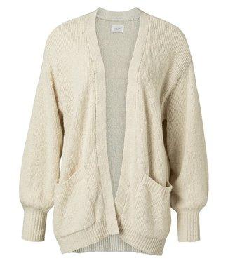 YAYA 1010121-113 Slub yarn cardigan bone white