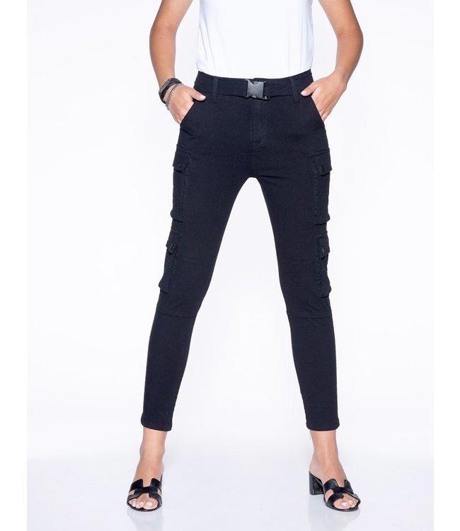 Bianco jeans 120908-Chrisse cargo black broek