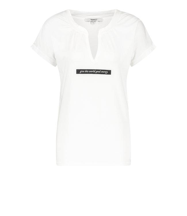 PENN&INK S21T554-whiteblack  T-shirt print