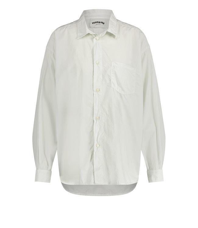 PENN&INK S21W311-white  Blouse