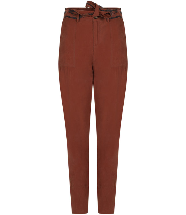 Tramontana Q15-98-101 Trousers Taperd Sand Washed Cognac