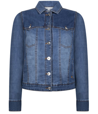 Tramontana Y06-98-801 Jacket Denim Two-Tone MidBlueDenim