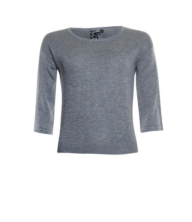 Poools 113169 Sweater shiny L.grey