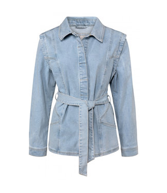 YAYA 151134-113  Denim jacket with shoulder detail