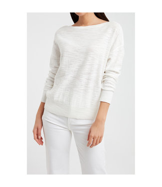 YAYA 1000294-113  Boatneck sweater wool white