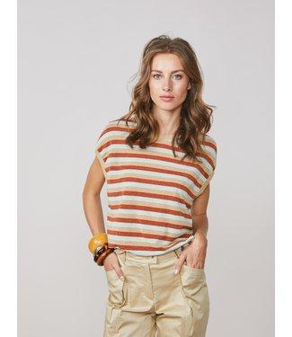 Summum Woman 3s4514-30217  Top lurex multicolour stripe
