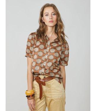 Summum Woman 2s2586-11385  Blouse big dots cotton