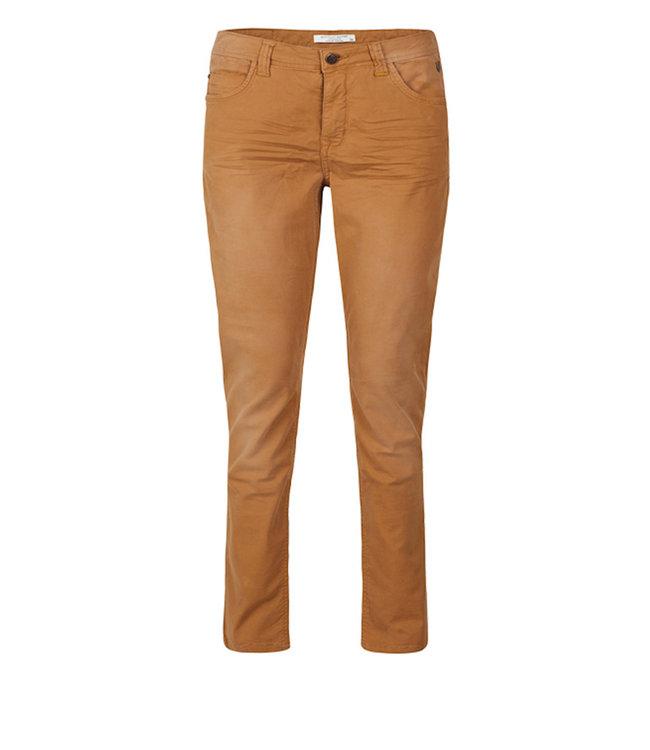 Summum Woman 4s2103-11426 Skinny pant fine basic twill Walnut