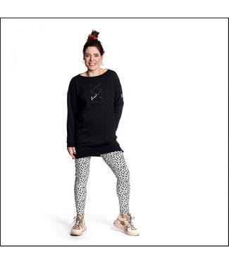 Sneakerdress 21SS019 Sweaterdress black