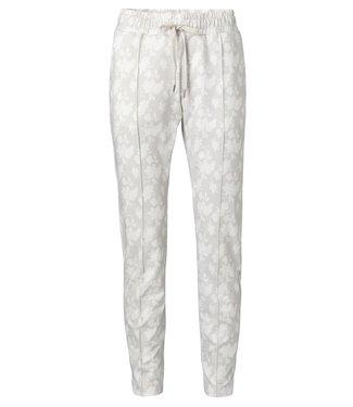 YAYA 1209183-014  Jogger pants with floral print Pebble dessin