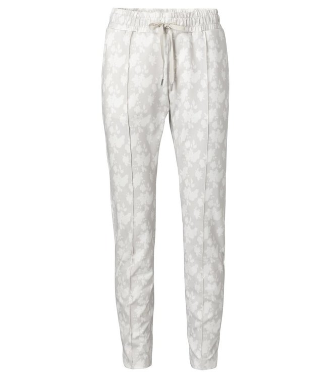 YAYA 1209183-014  Jogger pants with floral print Pebble dessin