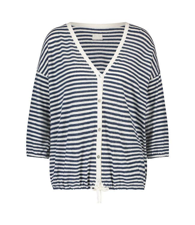 NUKUS SS2109226 Siri Cardigan Stripe Navy