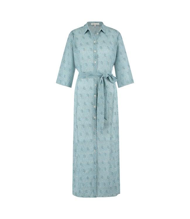 NUKUS SS21121727 Claudy Print Dress Baby Blue