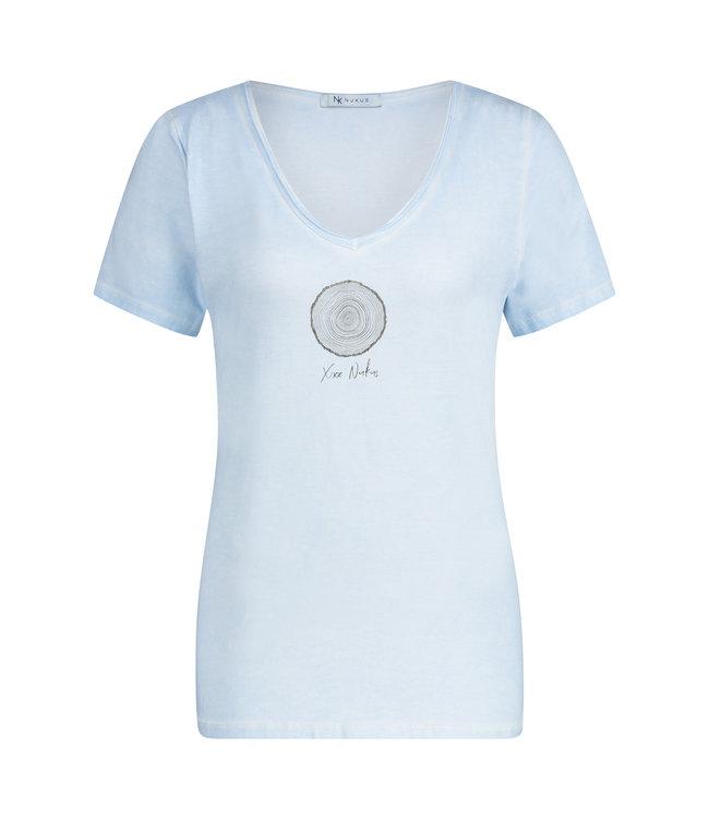 NUKUS SS2182027 Stam Tshirt Baby Blue