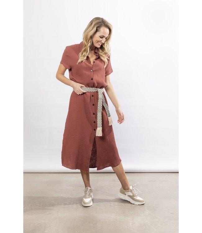 NUKUS SS21121059 Knokke Dress Brick