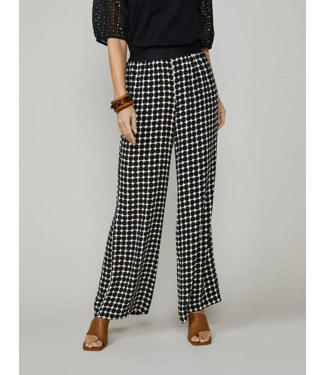 Summum Woman 4s2152-11440  Trousers dot print multicolour