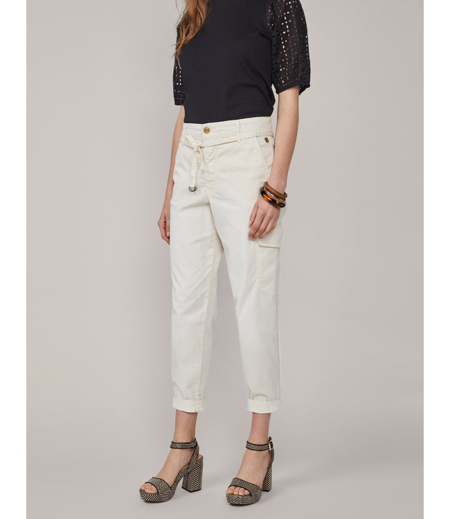 Summum Woman 4s2128-11430  Loose tapered pant Ivory