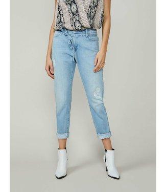 Summum Woman 4s2142-5094  Tapered jeans soft cotton indigo Denim