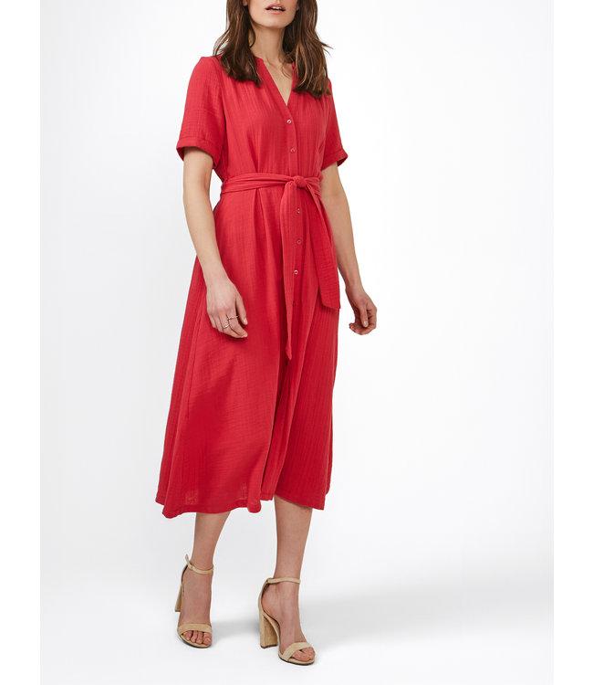 Sandwich 23001833  Dress woven long ruby blush