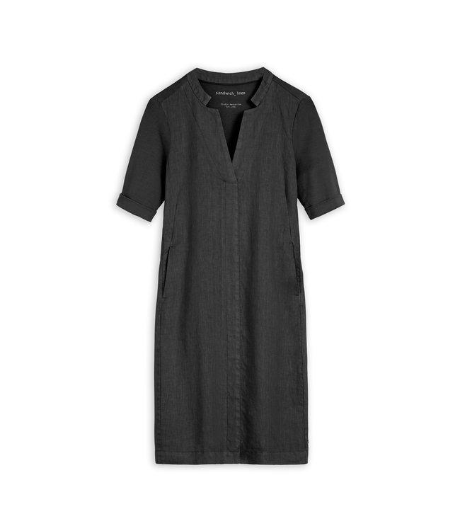Sandwich 23001743  Dress woven medium Black