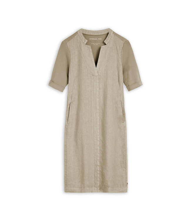 Sandwich 23001743  Dress woven medium Humus