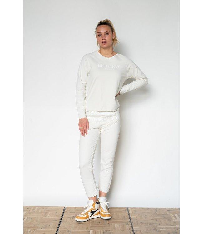 PENN&INK S21F923LTD  Sweater Ice cream/white