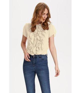 Saint Tropez 30510263  SS Lilly Shirt Creme