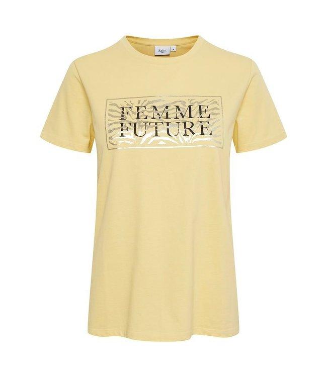Saint Tropez 30511155  Getina t-shirt Straw