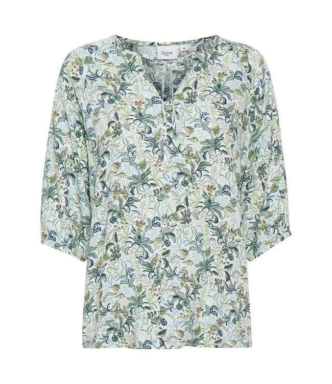 Saint Tropez 30511158  Galia blouse Opal blue tropical