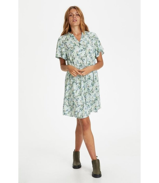 Saint Tropez 30511156  Galia Dress Opal blue tropical