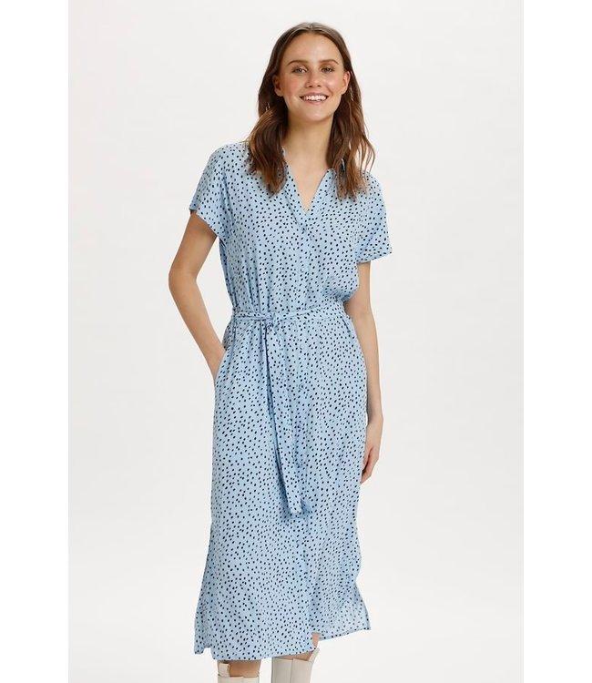 Saint Tropez 30511174 Gaby dress Cashmere blue dot
