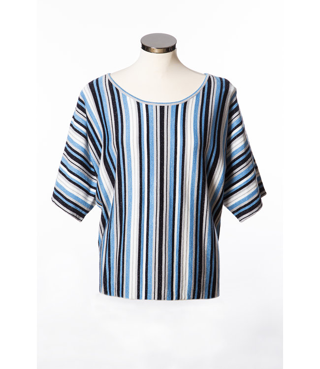 1L680  Saint tropez striped lurex top  Denim