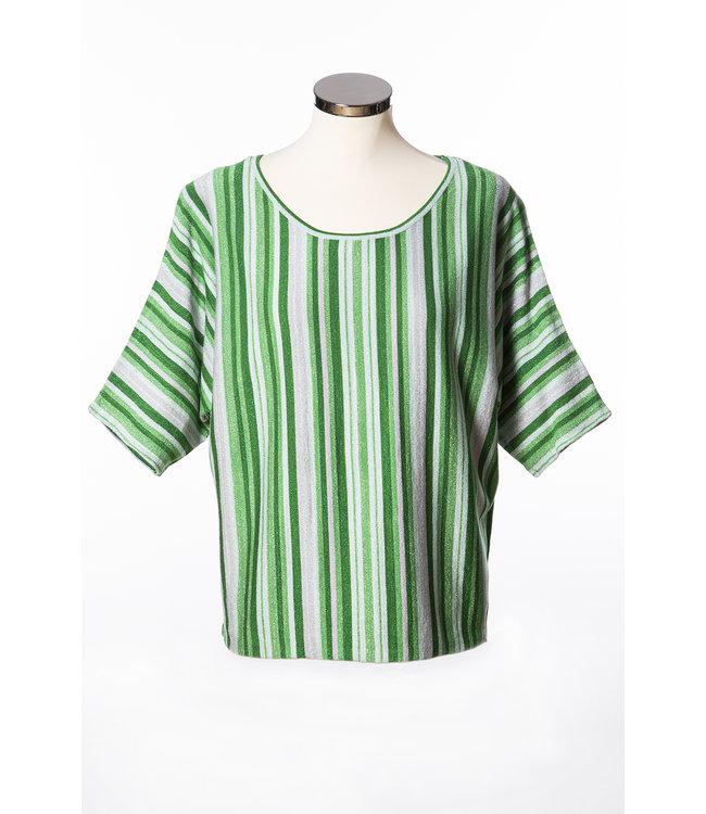 1L680  Saint tropez striped lurex top  Green