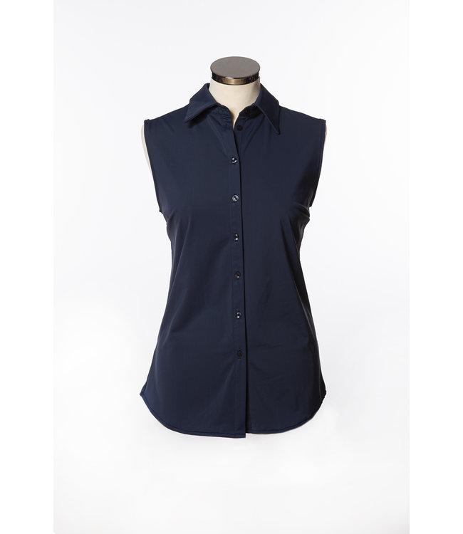 1L704  Raquel travel blouse sleeveless Marine