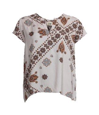 I Say 55286  Anniva v-neck blouse Summer Brownie