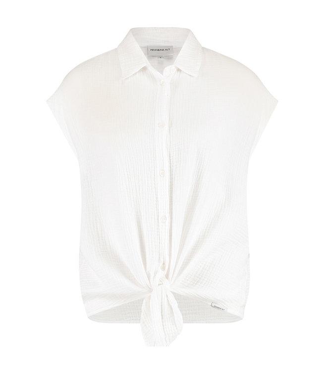 PENN&INK S21T597LTD Blouse White