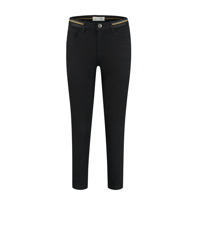 Para Mi SS212.005166 Capri Elastic  Color Denim Black