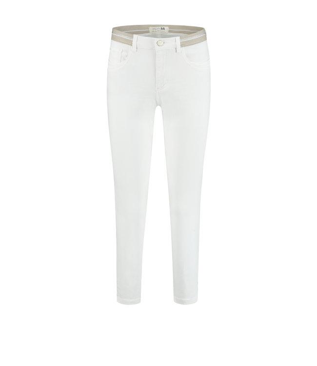 Para Mi SS212.005166 Capri Elastic Color Denim White