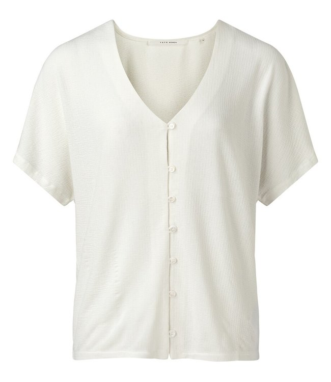 YAYA 1909425-114  Top with buttons White