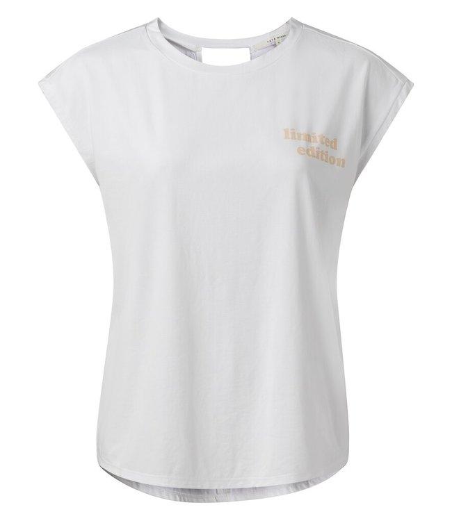 YAYA 1909427-114  Crew neck top with back detail tekst