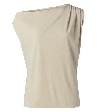 YAYA 1909428-115  Asymmetric top with pleats at shoulder