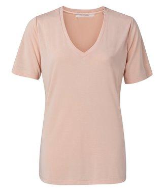YAYA 1919121-115  Modal v-neck t-shirt Apricot
