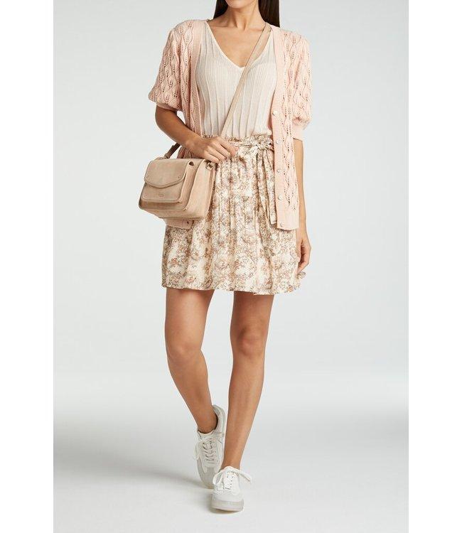 YAYA 1401140-115  Viscose printed mini skirt Pink dessin