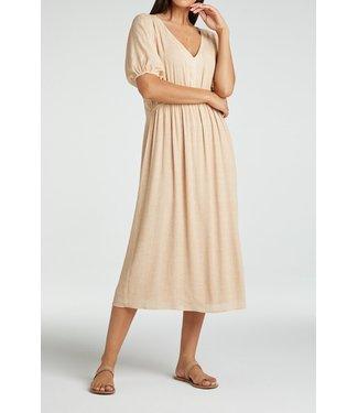 YAYA 1801359-115  Printed maxi dress with v-neck in viscose Frappe dessin