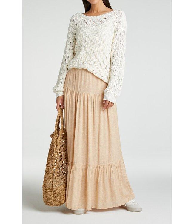 YAYA 1401139-115  Viscose printed maxi skirt