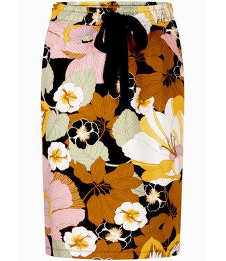 Tramontana D07-99-202  Skirt mini blooming print Blacks