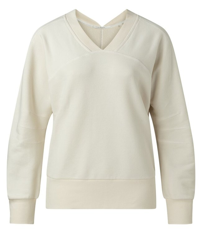 YAYA 1009450-115  Sweater v-hals Bleached sand