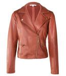 Tramontana Q27-98-801 Jacket Biker Coated Sweat Cognac